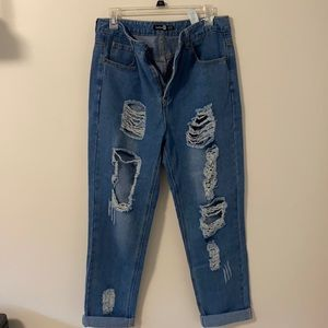 Ripped denim jeans from boohoo